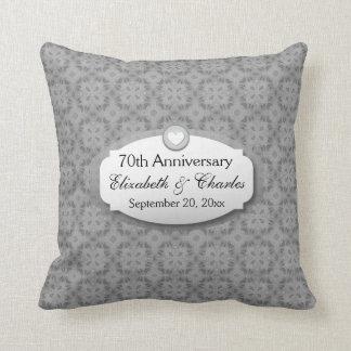 70th Anniversary Wedding Anniversary Platinum Z03 Pillow