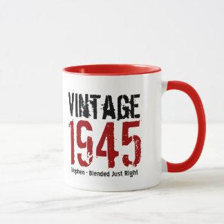 70th Birthday 1945 or  ANY YEAR Vintage V01G Mug