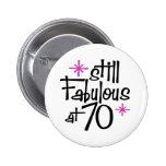 70th Birthday 2 Inch Round Button