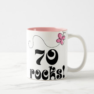 70th Birthday 70 Rocks Butterfly Gift Mug