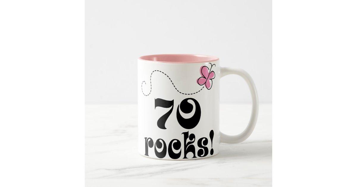 70th Birthday 70 Rocks Butterfly Gift Mug