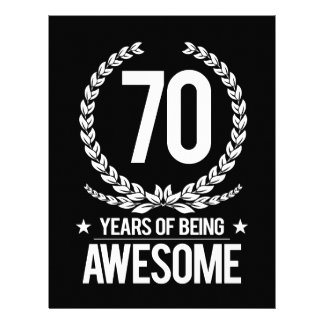 70th Birthday (70 Years Of Being Awesome) Letterhead