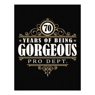 70th Birthday (70 Years Of Being Gorgeous) Letterhead