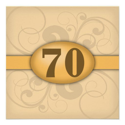 70th Birthday / Anniversary Party Personalized Invites