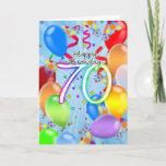 """70th Birthday - Balloon Birthday Card - Happy Birt<br><div class=""""desc"""">70th Birthday - Balloon Birthday Card - Happy Birthday Balloons</div>"""