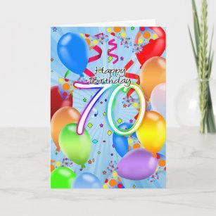 Happy 70th Birthday Invitations Stationery