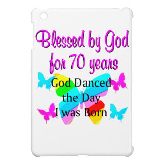 70TH BIRTHDAY BLESSING iPad MINI COVERS