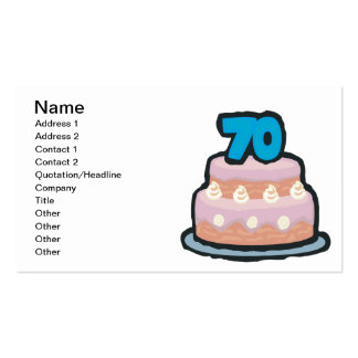 70th Birthday Double-Sided Standard Business Cards (Pack Of 100)