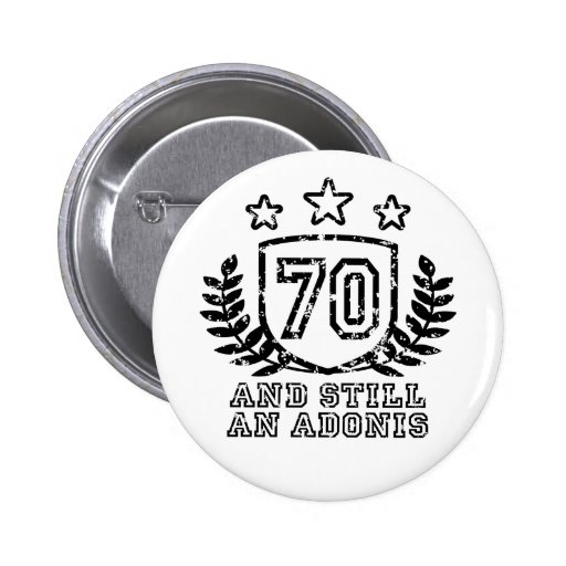 70th Birthday Buttons