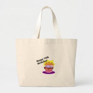 70th Birthday Cake Tote Bag
