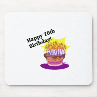 70th Birthday Cake Mouse Pad