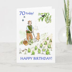 70th Birthday Card For A Gardener