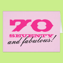 70th Birthday card for women | 70 and fabulous!