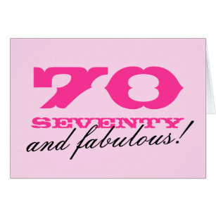 70 years old fabulous birthday cards greeting photo cards zazzle 70th birthday card for women 70 and fabulous m4hsunfo Choice Image