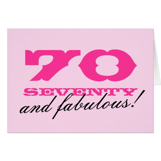 70th birthday card for women 70 and fabulous zazzle 70th birthday card for women 70 and fabulous bookmarktalkfo Images