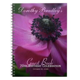 70th Birthday Celebration Customizable Guest Book Note Books