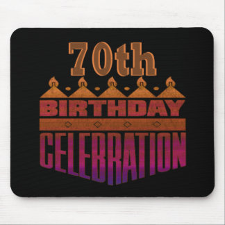 70th Birthday Celebration Gifts Mouse Pad