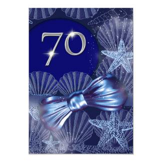 70th birthday celebration party major CUSTOMIZE 5x7 Paper Invitation Card