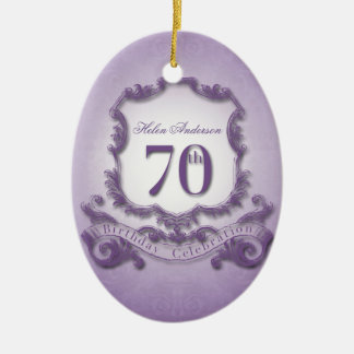 70th Birthday Celebration Personalized Ornament