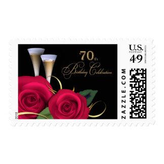 70th Birthday Celebration Postage Stamps