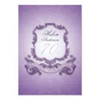 70th Birthday Celebration Vintage Frame Invitation