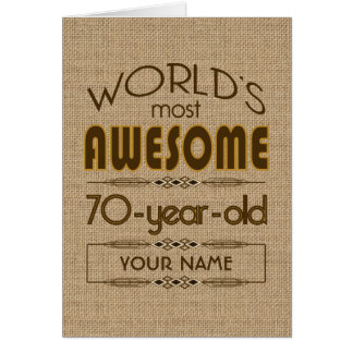 70th Birthday Celebration World Best Fabulous Card