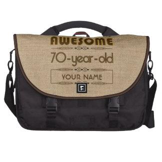 70th Birthday Celebration World Best Fabulous Computer Bag