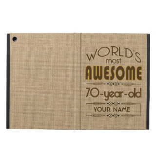 70th Birthday Celebration World Best Fabulous iPad Air Cover