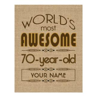 70th Birthday Celebration World Best Fabulous Letterhead