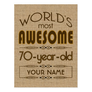 70th Birthday Celebration World Best Fabulous Postcard