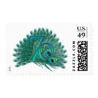 70th Birthday decorative number stamps Stamp