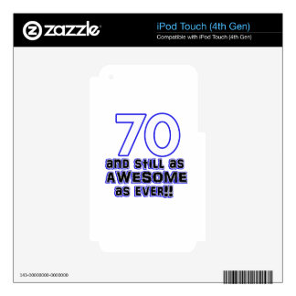 70th birthday design iPod touch 4G decals