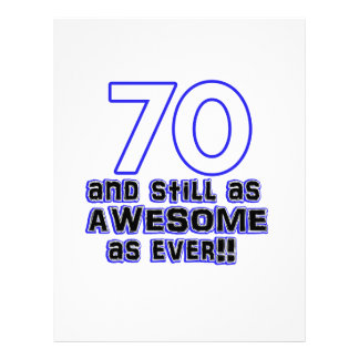 70th birthday design letterhead