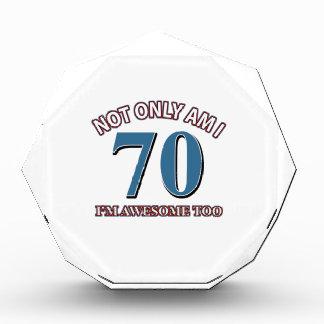 70TH birthday designs Award