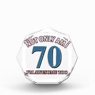 70TH birthday designs Acrylic Award