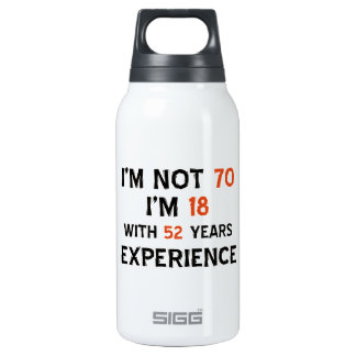 70th birthday designs insulated water bottle