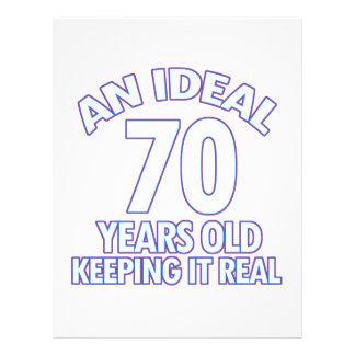 70th birthday designs letterhead