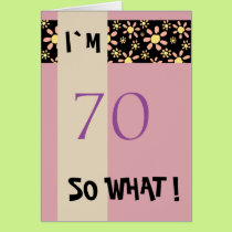 70th Birthday for Her Funny Motivational Card