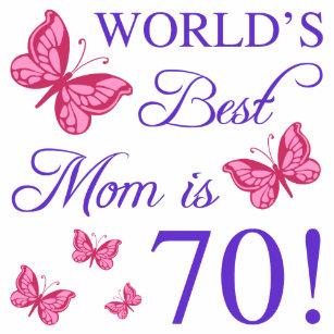 70th birthday for mom coffee mug
