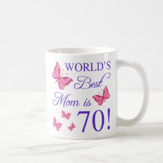 70th Birthday For Mom Coffee Mug
