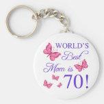 70th Birthday For Mom Keychain