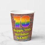 [ Thumbnail: 70th Birthday: Fun Graffiti-Inspired Rainbow 70 ]