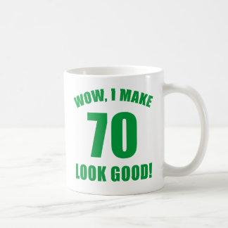 70th Birthday Gag Gift (g) Classic White Coffee Mug
