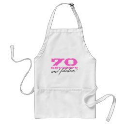 70th Birthday gift apron | 70 and fabulous!