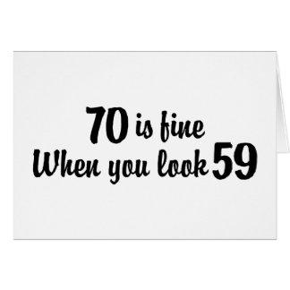70th Birthday Greeting Card