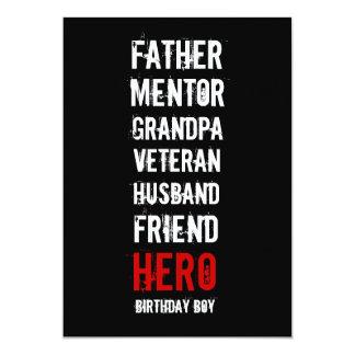 70th Birthday Hero Party Invitation