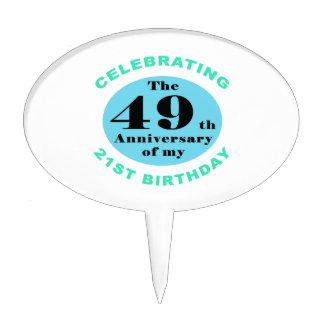 70th Birthday Humor Cake Topper