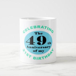 70th Birthday Humor Large Coffee Mug