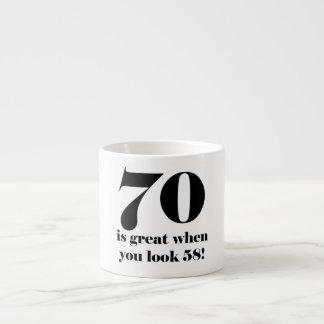 70th Birthday Humor 6 Oz Ceramic Espresso Cup