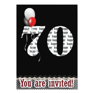 70th Birthday Invitation